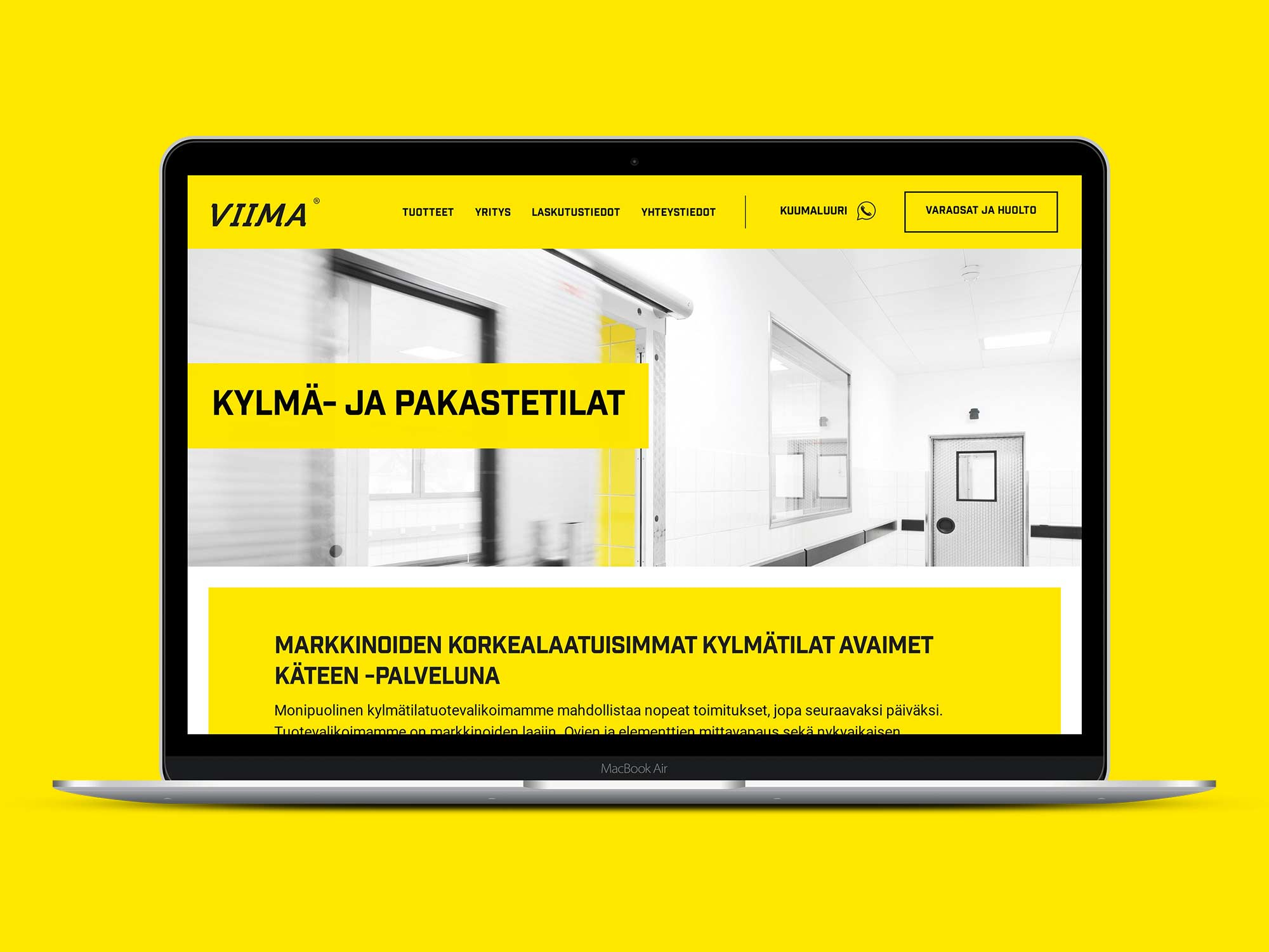 Kotisivut WordPressillä Oy Viima Inn Ltd:lle.