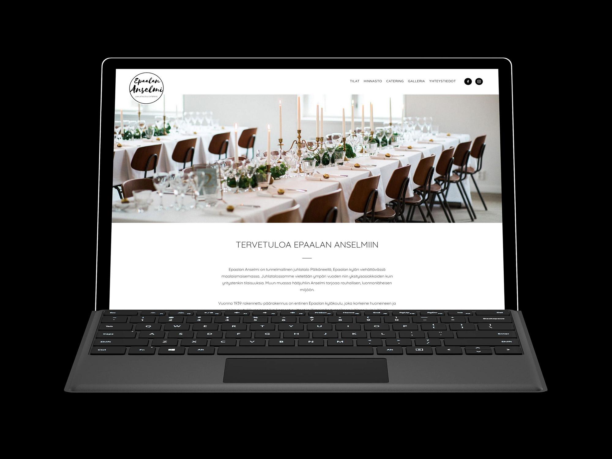 WordPress-kotisivut yritykselle Epaalan Anselmi