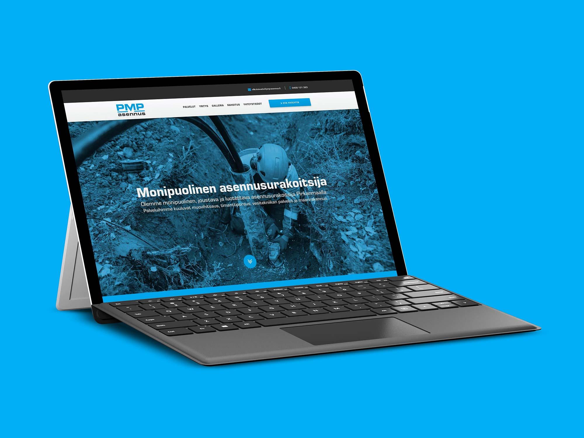 WordPress-nettisivut PMP-Asennus Oy:lle.