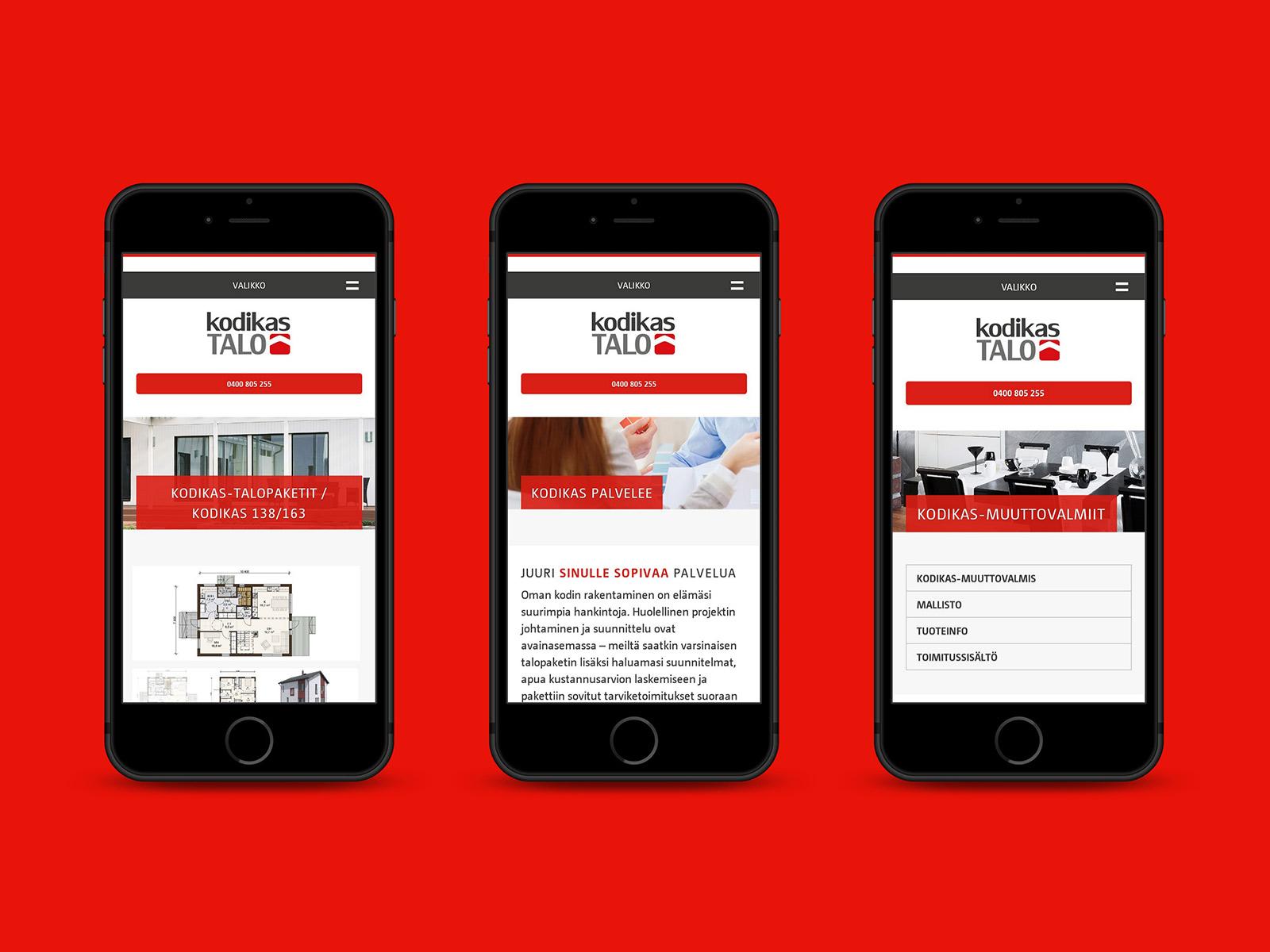 Responsiiviset nettisivut toimivat erinomaisesti mobiililaitteilla.
