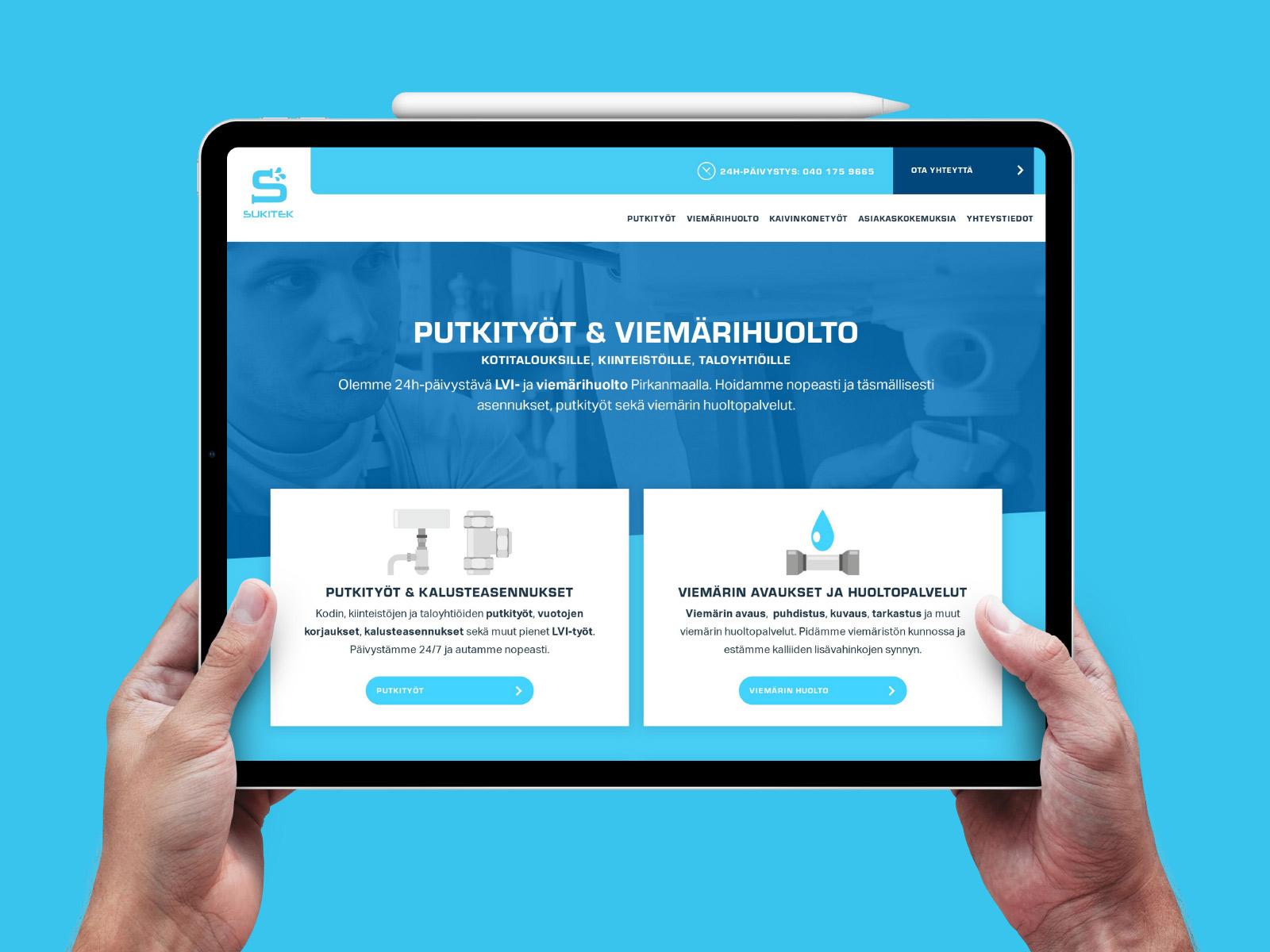 WordPress sivut Sukitek Oy:lle.