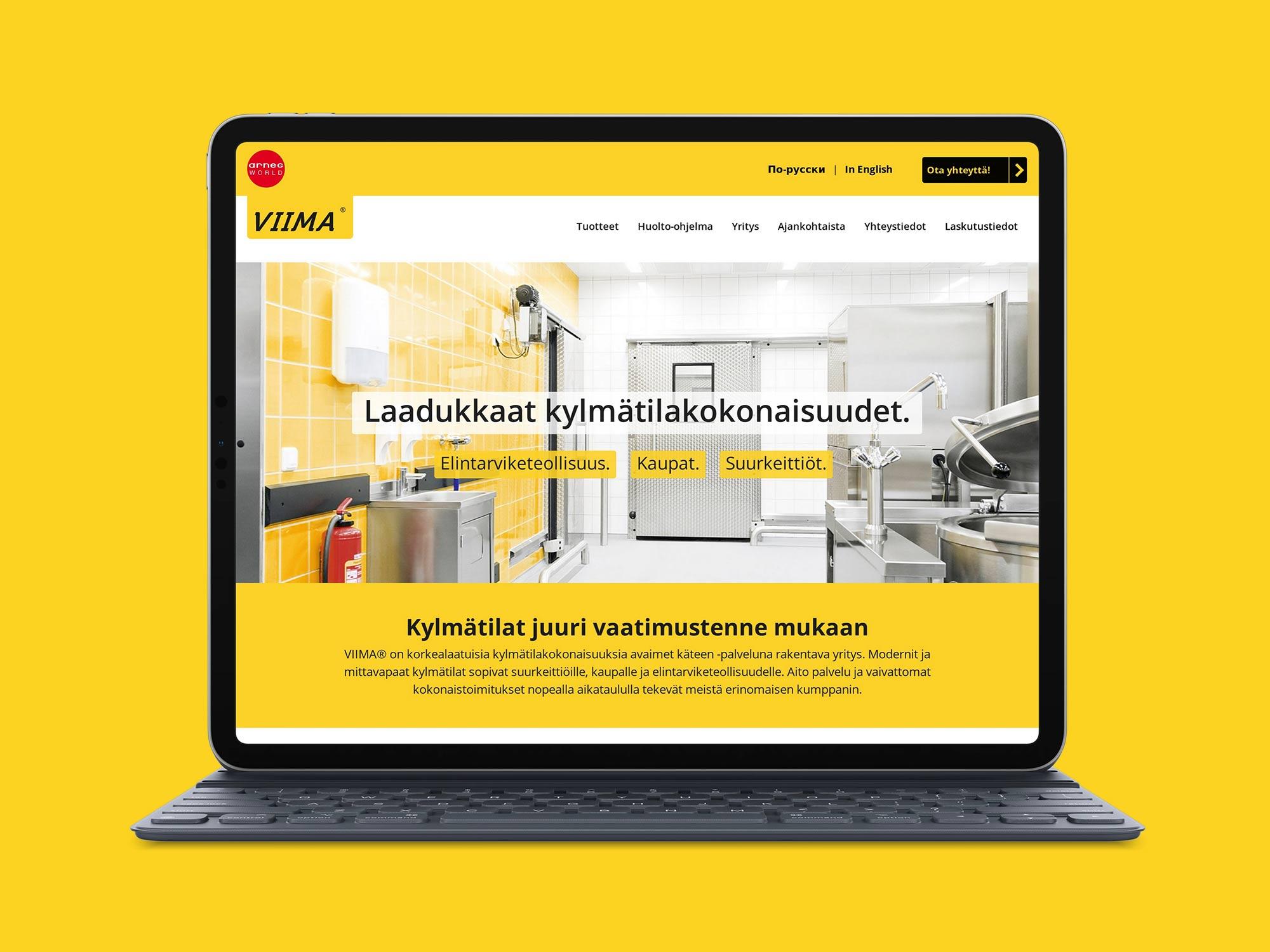 Nettisivut yritykselle Oy Viima Inn Ltd.