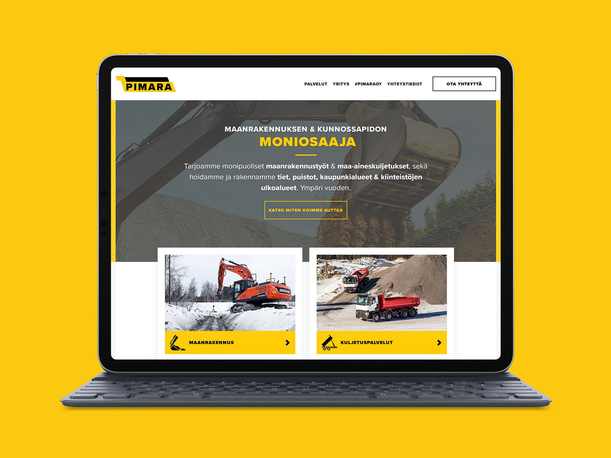 WordPress-sivut Pimara Oy:lle-