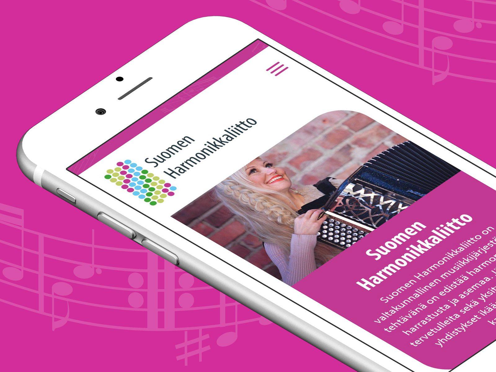 WordPress-sivut Suomen Harmonikkaliitolle.