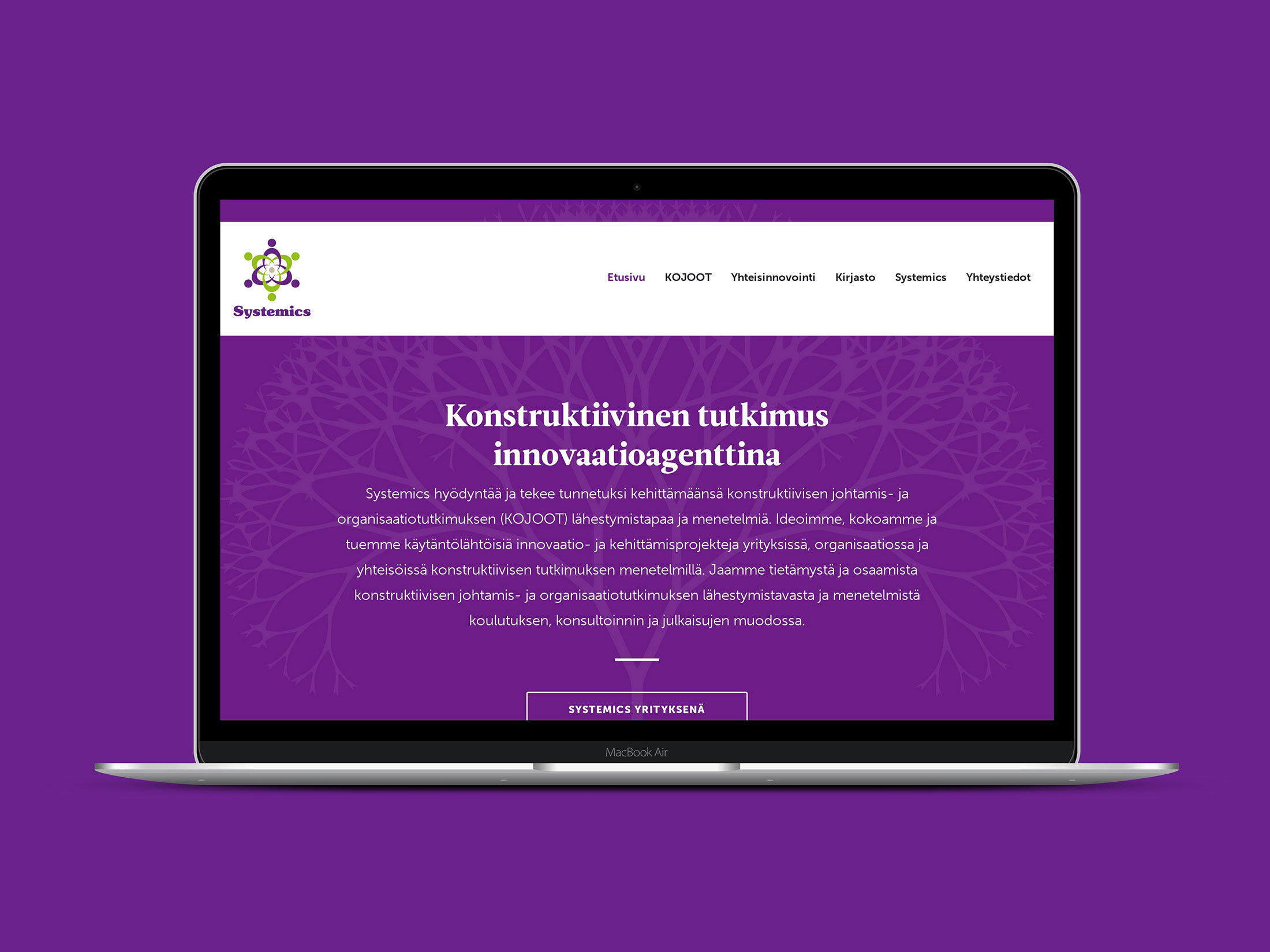 WordPress sivut ja kirjasto Systemics Systemic investigations & innovationsille.